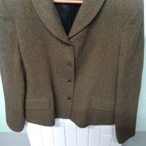 Harold's 100% lambs wool brown tweed blazer.